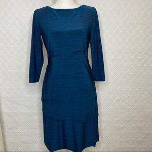 Tahari 3/4 Sleeve Shift Layer Dress size 4